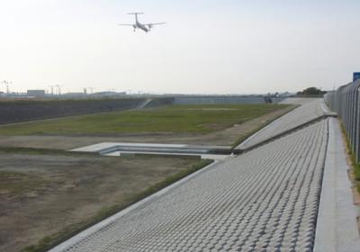 福岡空港月隈調節池法面保護工事