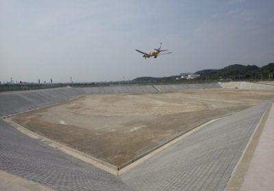 福岡空港月隈調節池護岸工工事
