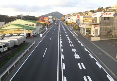 国道3号鞘ヶ谷地区舗装