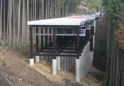 付替国道496号(横瀬)鋼製桟道工工事